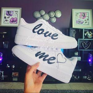 LOVE ME 🖤 Customs Nike Air Force 1